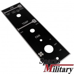 HMMWV instruction plate heating system