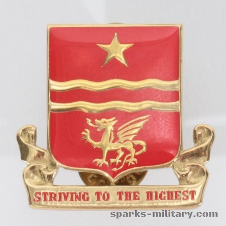 WWII 30th Field Artillery Regiment Unit Crest, german Made