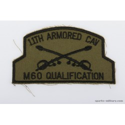 11th ACR Pocket Patch M60 Qualification