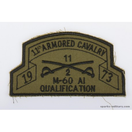 11th ACR Pocket Patch M-60 A1 Qualification