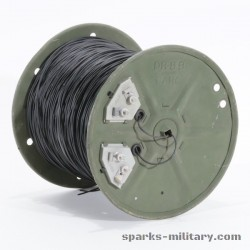 US Army Field Telephone Kable mit Trommel