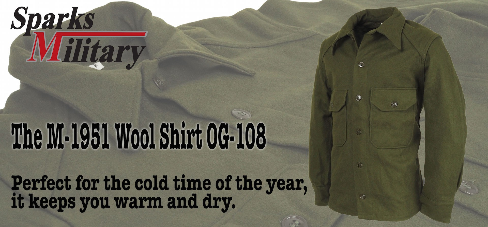 US Army Wool Shirt OG-108